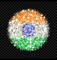 india flag sparkling badge vector image