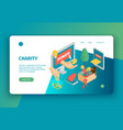 isometric charity landing page