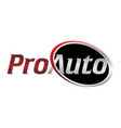 letter pro auto vector image vector image