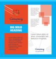 libra company brochure title page design company vector image