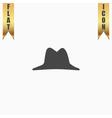 Mens hat icon vector image