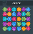 office colorful icons vector image