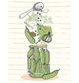 Pickled cucumbers vector image