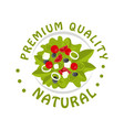 premium quality natural logo template badge for vector image vector image