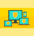 protected digital device concept background flat vector image vector image