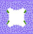 purple hydrangea flower border vector image vector image