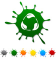 Recycle blot vector image vector image