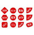 red new sale labels set tags vector image