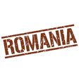 Romania brown square stamp vector image vector image
