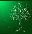 science tree made connected lines and dots vector image vector image
