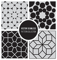 Seamless BW Geometric Pattern Collection vector image vector image
