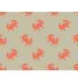 Seamless crab pattern vector image vector image