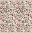 seamless pattern 4 in childrens drawing style vector image