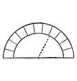 semicircular arch roman vintage engraving vector image vector image