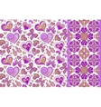 Set of cute seamless backgrounds with vector image