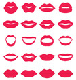 Set of red lips vector image vector image