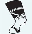 Silhouette Nefertiti vector image