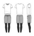 templates of blank t-shirt shorts pants vector image