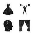 textiles sport medicine and other web icon in vector image