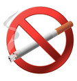 The sign no smoking vector image