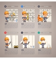 Wall Repair with Worker vector image vector image