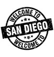 welcome to san diego black stamp vector image vector image