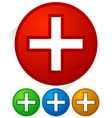 white cross icons with diagonal shadows vector image