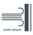 wind promaterial glass or window properties vector image vector image