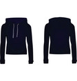 women dark blue hooded sweatshirt vector image vector image