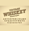 woodcut style vintage font vector image