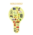 World Energy Lamp Concept vector image vector image