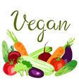 world vegan day concept vector image vector image