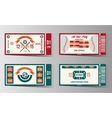 Football soccer and Baseball ticket design vector image