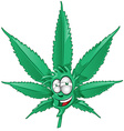 fun marijuana cartoon vector image