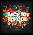 3d realistic back to school title poster design in vector image