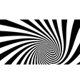 3d striped spiral abstract tunnel vector image vector image