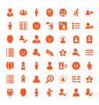 49 user icons vector image vector image