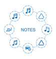 8 notes icons vector image vector image