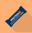 blue protein bar icon flat style vector image