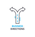 business directions concept outline icon linear vector image