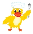 Cartoon of the duck of the cook vector image vector image
