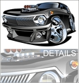 Cartoon retro hot rod vector image vector image