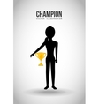 celebrate champion vector image vector image