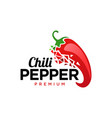 chili pepper pixel logo design template vector image
