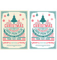 christmas party flyer retro typography vector image vector image