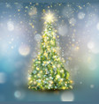 christmas tree with defocused light eps 10 vector image