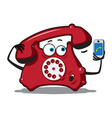 classic wire telephone vector image