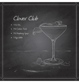coctail clover club on black board vector image vector image