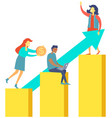 concept teamwork that leads company to success vector image vector image