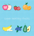 creative set of most popular fruits vector image vector image